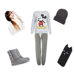 Comfy by raquelsday on Polyvore featuring polyvore, fashion, style, Eberjey, UGG Australia and Aéropostale