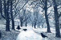 A Walk in the Park, Etching, Janis Goodman