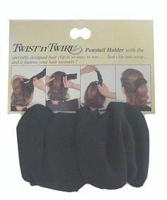 Twist 'n' Twirl Hair Tie for Thick or Thin Hair >>> Click image for more details.