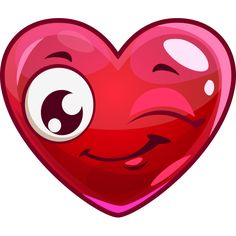 This heart is in a happy mood and as a special wink to share.