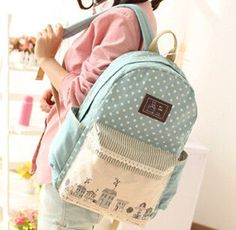 2016 Fashion Women's Canvas Backpack School bag For Girl Ladies Teenagers Casual Travel bags Schoolbag Bagpack #ST-423