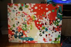 Awesome painting by Kristen. She takes commissions if you're not up for DIYing stuff! From here: http://kfddesigns.blogspot.com/2012/06/canvas-painting.html#