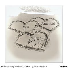 Beach Wedding Renewal - Sand Hearts-Beach