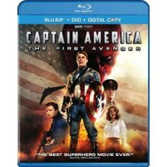 Captain America: The First Avenger (Two-Disc Blu-ray/DVD Combo + Digital Copy) (2011), (captain america, marvel dvd, tommy lee jones, blu-ray, chris evans, marvel comics, samuel l jackson, adventure, stanley tucci, dominic cooper)