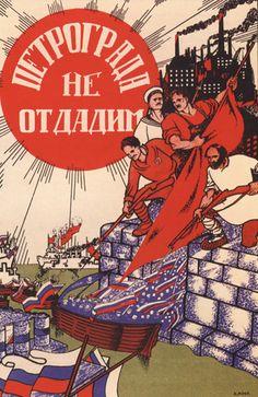 Nous ne livrerons pas Petrograd, 1919 // Les récits de Moor, composés de blocs imposants, ont conquis leur popularité en mettant en contraste hier et aujourd'hui, ennemis et alliés héroïques, impérialisme et luttes ouvrières.