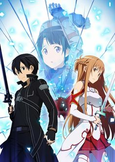 Confused on who the guy or girl is behind Kirito and Asuna