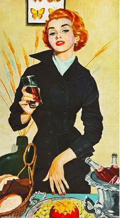 Pepsi Cola 1953  The Light Refreshments for Young Moderns