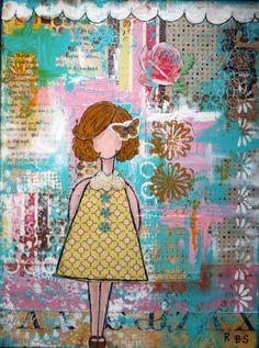 """""""Girl w/Butterfly in Hair"""" 16x20"""