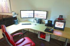 drag to resize or shift+drag to move Office Setup, Pc Setup, Desk Setup, Office Organization, Simple Computer Desk, Computer Setup, Gaming Setup, Computer Station, Geek Room