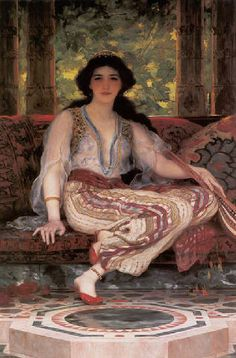 The Persian Girl 1901 Oil on canvas-William Clarke Wontner English Academic Classical painter