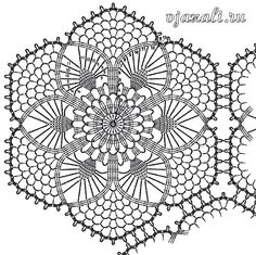 It is a website for handmade creations,with free patterns for croshet and knitting , in many techniques & designs. Crochet Dollies, Crochet Wool, Irish Crochet, Crochet Flowers, Free Crochet Doily Patterns, Crochet Squares, Crochet Designs, Crochet Stitches, Motif Hexagonal