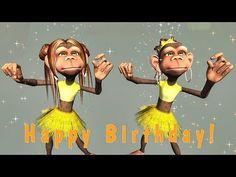 Funny Text Birthday Cards 3 45 Funny Happy Birthday song Monkeys Sing Happy Birthday to Singing Birthday Cards, Happy Birthday Dancing, Happy Birthday Wishes Sister, Happy Birthday Funny Humorous, Happy Birthday For Him, Happy Birthday Video, Birthday Wishes Funny, Happy Birthday Messages, Youtube Birthday