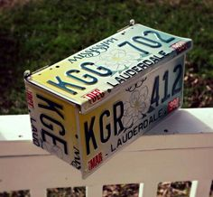 Leftover license plates? Upcycle them!