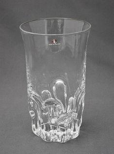 "TAPIO WIRKKALA - Glass vase ""Marja"" (A Berry) for Iittala, Finland. Clear Glass Vases, Glass Art, Glass Design, Design Art, Tall Vases, Finland, Shot Glass, Sculpture, Ceramics"