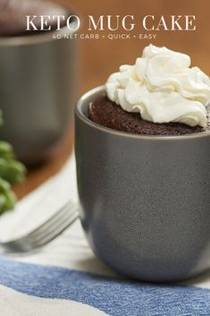 Get delicious and moist chocolate mug cakes online here. We offer simple, sweet, and delicious low carb & sugar free chocolate mug cakes online. Moist Chocolate Mug Cake, Chocolate Mug Cakes, Sugar Free Chocolate, Low Carb Desserts, Cookie Desserts, Brownie In A Mug, Keto Mug Cake, Cake Online, Cake Tins