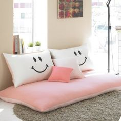 Korean Floor Pillows : 1000+ images about Korean floor mattress on Pinterest Bedding, Sunken bed and Minimalist bedroom