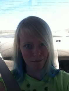 Me with blue in my hair! Stupid school made me take it out!