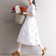 WTP-D White Embroidery Elegant Dress