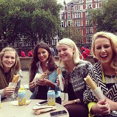 Trufflers having #lunch at the #BritishMuseum. #Hotdogs all round!