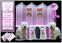 West Highland Puppy Dogs 4 x Fold Over The Edge by DigitalHeaven, £2.00