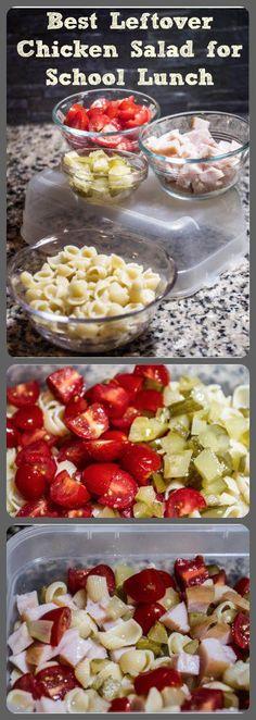 Mending the Piggy Bank | Best Leftover Chicken Salad for School Lunch