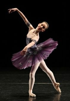 Navy lace over lilac silk - classical ballet tutu by Margaret Shore Costumes