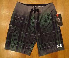 4226499cda Swimwear 51919: Nwt Under Armour Board Shorts Swim Trunks Loose Black Gray  Boys 8 14 18 20 -> BUY IT NOW ONLY: $32.99 on eBay!