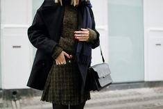 Peacoat and hat from Filippa K, knit and skirt from Baum und Pferdgarten, scarf from Acne Studios, rings from Pandora and Mumbai Stockholm, bag from Marni (similar here), and boots from &Other...