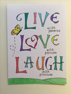 Handlettering live love laugh