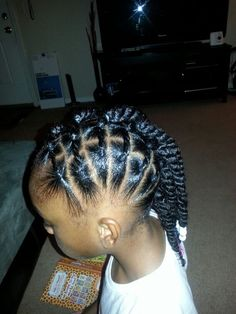 Good hairstyle for the school year.