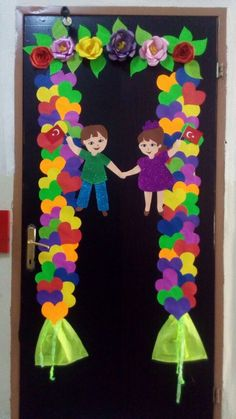 Sınıf kapı süsü