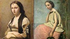 une jeune fille avec une perle de Corot La Zingara au tambour basque deCorot