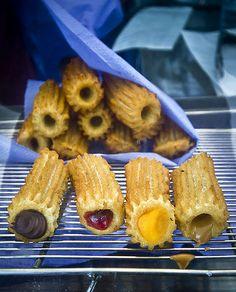 churros Churros, Cupcakes, Dessert Recipes, Desserts, Relleno, Bon Appetit, Sweet Recipes, Pineapple, Muffins