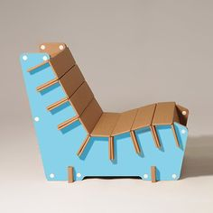 #Anita is a corrugated #cardboard armchair, perfect to furnish any type of space! Now available in light #blue #design #ecoandyou