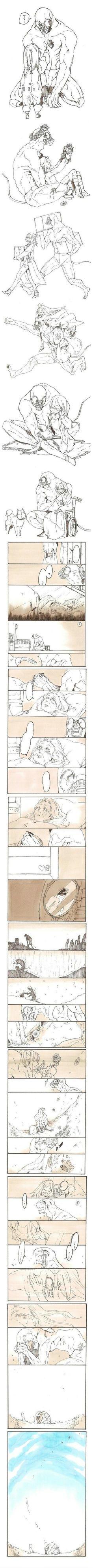 여자아이가 괴물과 함께 늙는 만화.manwha | Daum 루리웹