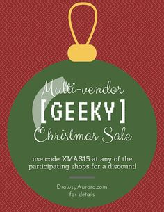 Multi-Vendor Geeky Christmas Sal Preview items from the shops in this year's sale! - made with simplebooklet.com