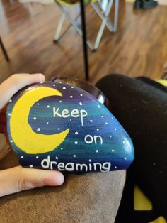 Keep on dreaming!💙 $15 + shipping and handling Painted Rocks For Sale, Hand Painted Rocks