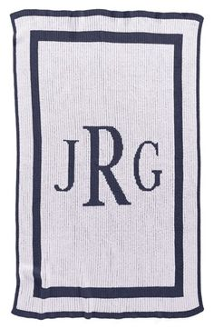 Butterscotch Blankees 'Classic Monogram - Small' Personalized Blanket available at #Nordstrom