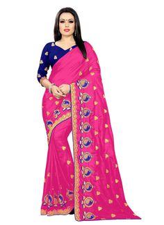 Silk Pink Classic Designer Saree Silk Sarees, Pink Color, Sari, Amazon, Stuff To Buy, Fashion, Saree, Moda, Amazons