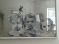 Make a haunted mirror. Halloween Home Decorating Ideas