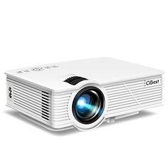 """CiBest LED Video Projector Portable, 130"""" Multimedia Home Theater Mini Movie Projectors Support 1080P HDMI USB SD Card VGA AV for Home Cinema TV Laptop Game Smartphone. Features: - Large-screen understanding and appreciate time with your family, 32-130"""" with projector remove 1m-3m, the best projector separate is, best offer #projectorscreen"""