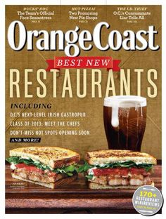 Orange Coast Magazine // Sneak Peek // April 2013 magazine cover