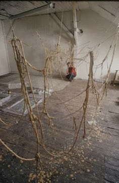 Eva Hesse at studio