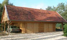 Kapschuur met rode dakpannen | Schipper Houtbouw Produktie