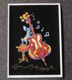 CHIHUAHUA PLAYING BASS Fine art Giclee Print, Jamie Hayes New Orleans, guitar | eBay