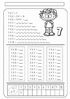 Addition And Subtraction Worksheets, 2nd Grade Math Worksheets, 1st Grade Math, Worksheets For Kids, Teaching Numbers, Tools For Teaching, Teaching Math, Math Measurement, Math Multiplication