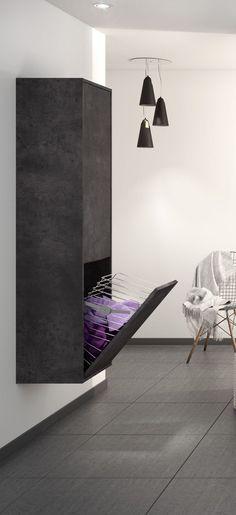 Parquet acajou mur beton cire plafond blanc Salle de bain Pinterest
