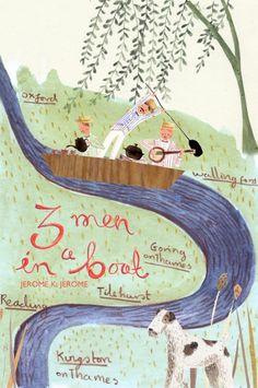three men in a boat book cover illustration Emma Block