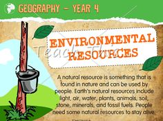 STUDENTS: 2- Educational resources that aims at supporting Year 4 students in the learning of Environmental Research.