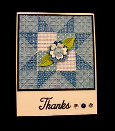Ann Greenspan's Crafts: Star Pattern Quilted Card